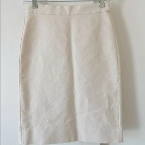 J. Crew Off-White Pencil Skirt Size 00